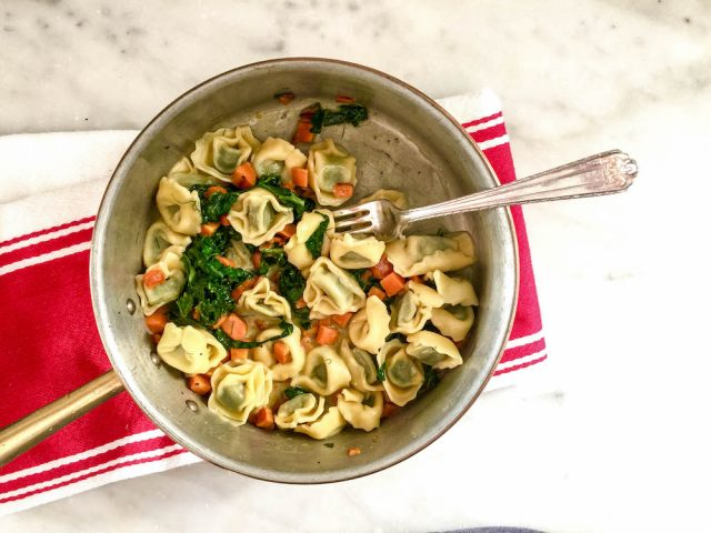 Tortellini, Swiss Chard, Carrots & Fennel | In Jennie's Kitchen