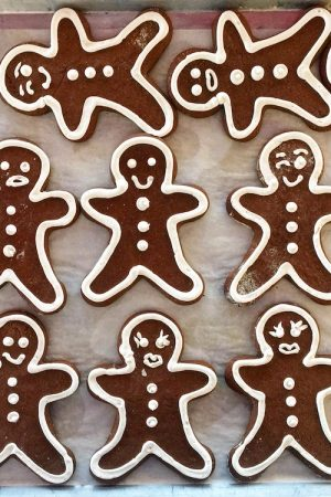 Mom's Gingerbread with Royal Icing | In Jennie's Kitchen
