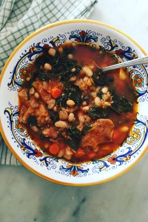 Ribollita, a hearty Tuscan soup