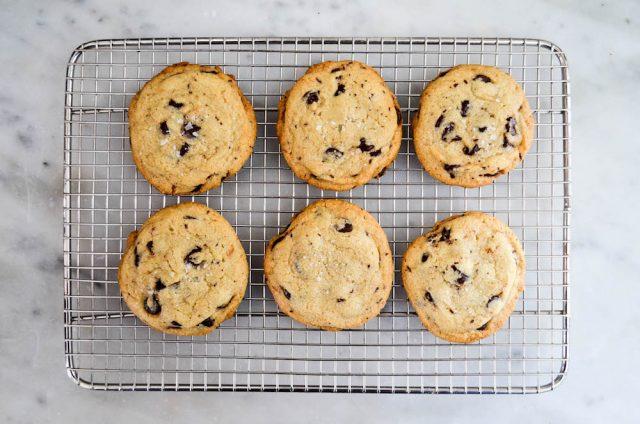 Salted Tahini Chocolate Chip Cookies | In Jennie's Kitchen
