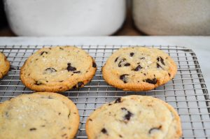 Salted Tahini Chocolate Chip Cookies | In Jennie's Kitchen