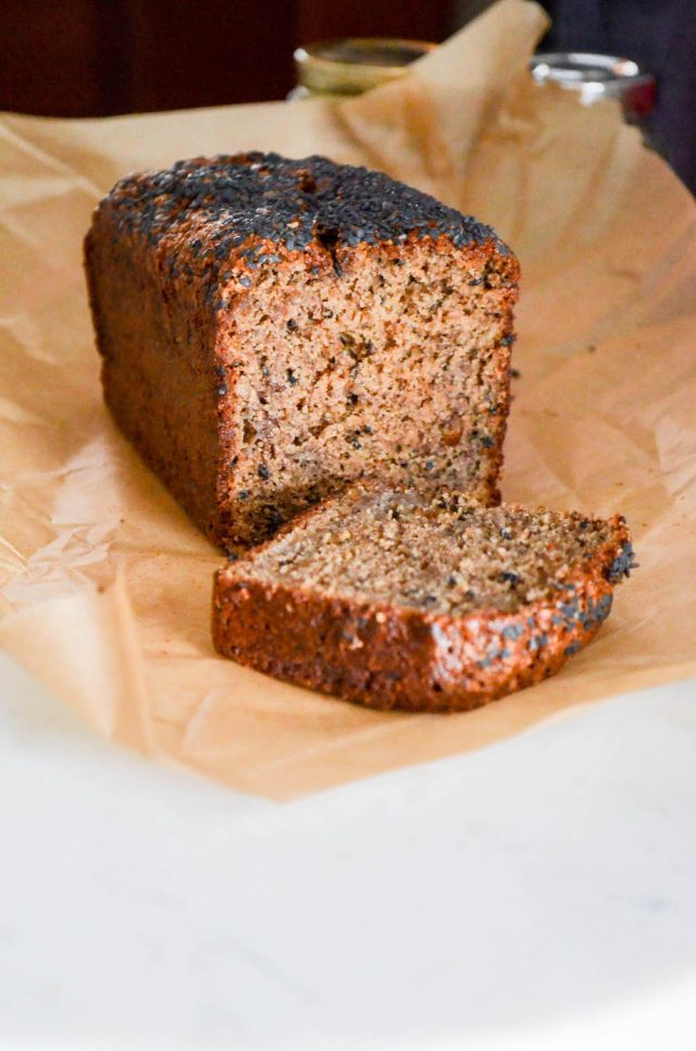 Tahini Buckwheat Banana Bread | In Jennie's Kitchen