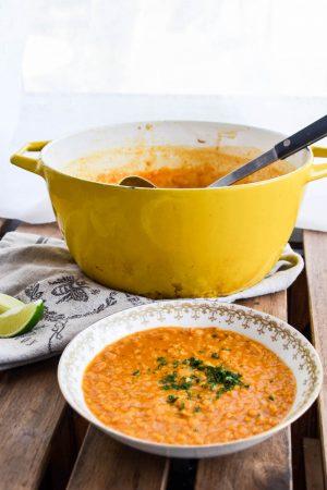 Thai Red Lentil Soup Recipe | In Jennie's Kitchen