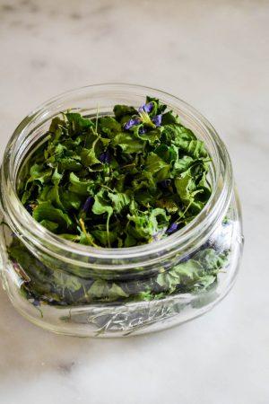 Dried Violets | In Jennie's Kitchen
