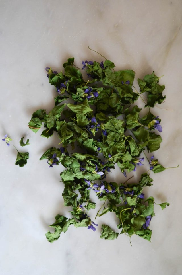 Dried Violets | In Jennie's Kitchen
