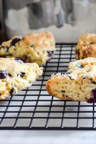 Orange Glazed Blueberry Scones | In Jennie's Kitchen