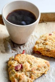 Strawberry White Chocolate Chunk Scones | In Jennie's Kitchen