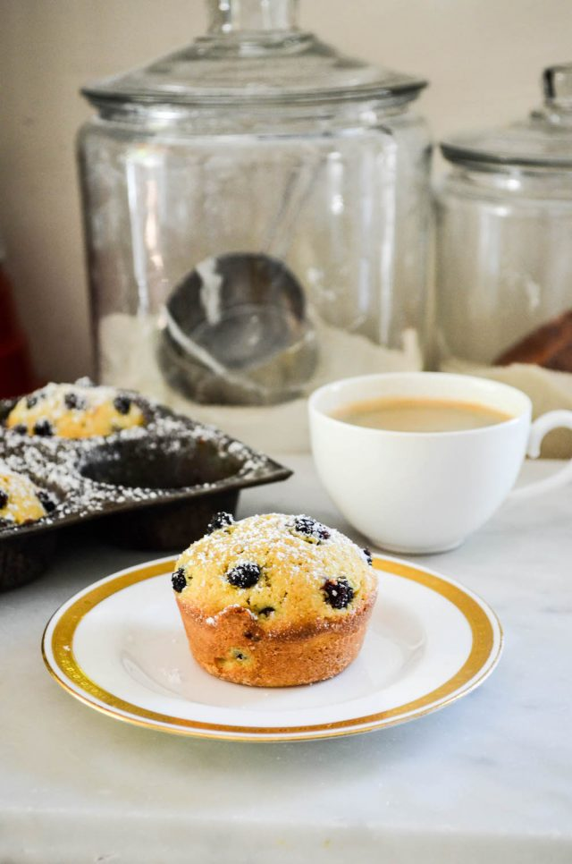Mini Mulberry Cornmeal Cakes