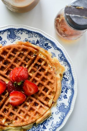 Strawberry Waffles | In Jennie's Kitchen