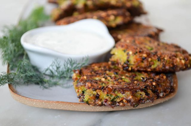 Zucchini Quinoa Patties | In Jennie's Kitchen