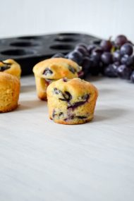 Concord Grape Honey Muffin Recipe | In Jennie's Kitchen