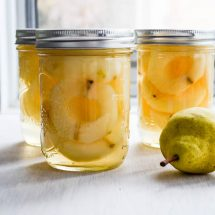 Home Canned Pears in Light Syrup
