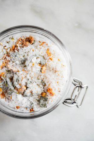 Homemade Citrus Herb Bath Salts | In Jennie's Kitchen