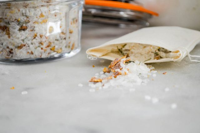 Homemade Citrus Herb Bath Salts | In Jennie's Kitchen