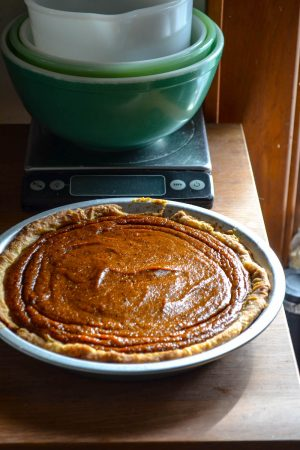 Salted Tahini Pumpkin Pie | In Jennie's Kitchen