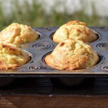 No-Cornmeal Corn Muffins (a small batch recipe)