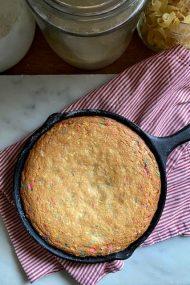 Easy Funfetti Skillet Cake