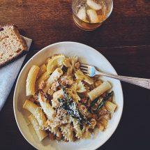 Pasta e Ceci {pasta with chickpeas}